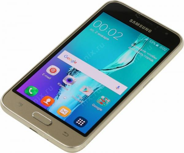 Смартфон Samsung Galaxy J1 (2016) SM-J120F/DS Gold