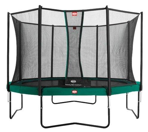 Батут  Berg Favorit 430 + Safety  Net Comfort 430 зеленый