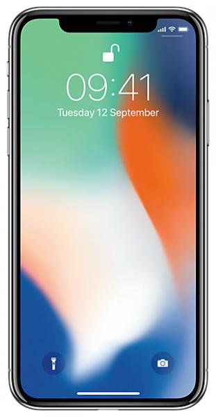 Apple iPhone X 256GB Silver (MQAG2RU/A)